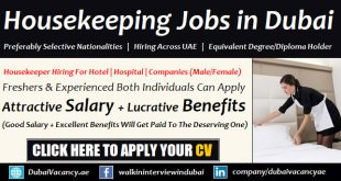 Housekeeping Jobs in Dubai