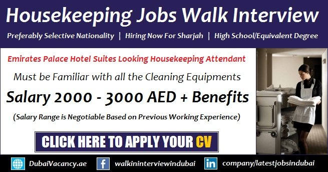 Housekeeping Jobs in Sharjah