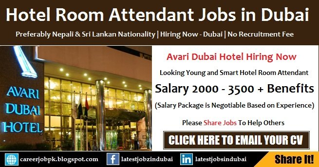 Avari Hotel Housekeeping Attendant Jobs