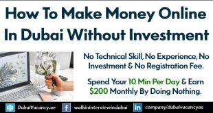 How To Make Money Online in Dubai Without Investment