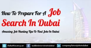 How To Prepare For A Job Search in Dubai