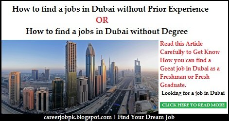 How To Find Jobs in Dubai Without Prior Experience
