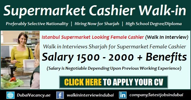 Istanbul Supermarket Cashier Jobs