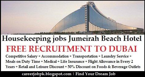 Jumeirah Beach Housekeeping Jobs