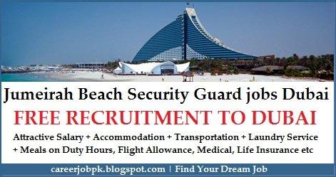 Jumeirah Beach Hotel Dubai Security Guard Jobs