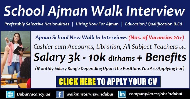 Latest Jobs In Ajman Schools 2020 The