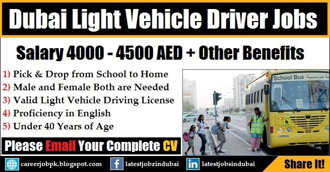 Light Vehicle Driver Jobs in Dubai
