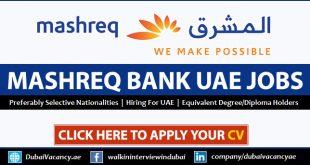 Mashreq Bank Careers