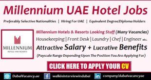 Millennium Hotel Dubai Careers