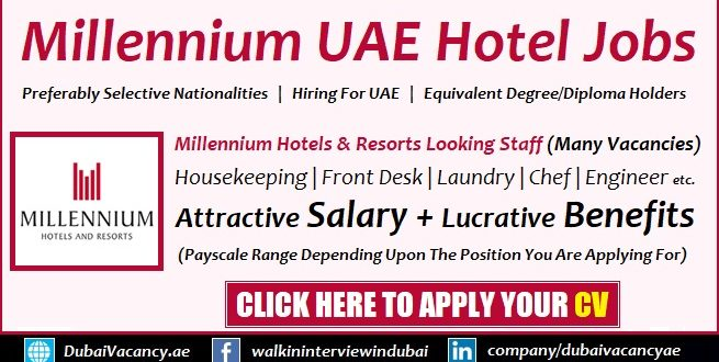 Millennium Hotel Dubai Careers Latest Job Vacancies Apply Now