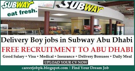 motorcycle delivery boy jobs in subway restaurant abu dhabi. Black Bedroom Furniture Sets. Home Design Ideas