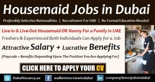Housemaid Jobs in Dubai