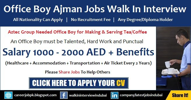 Office Boy Jobs in Ajman