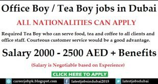 Tea Boy Jobs in Dubai