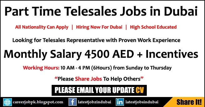 Part Time Telesales Jobs in Dubai