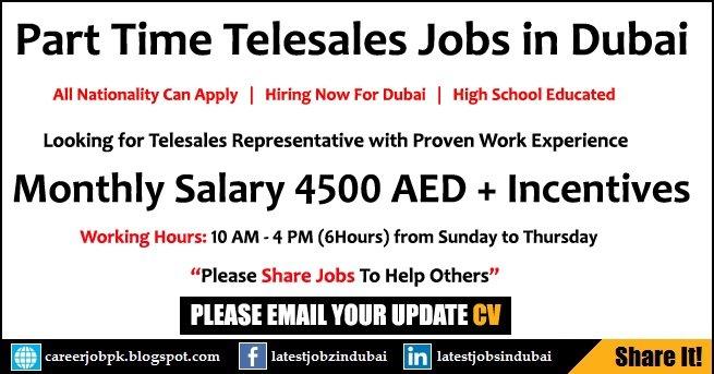 Part Time Telesales Jobs In Dubai Latest Advertisement