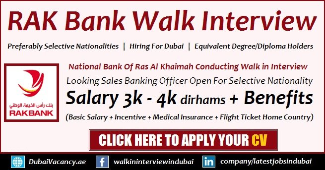 RAK Bank Walk in Interview