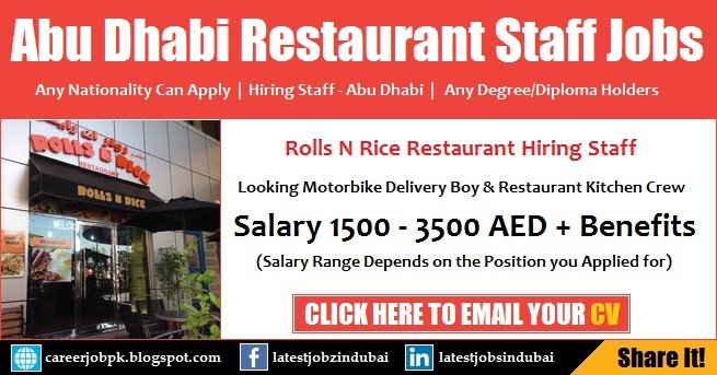 Rolls N Rice Restaurant Jobs
