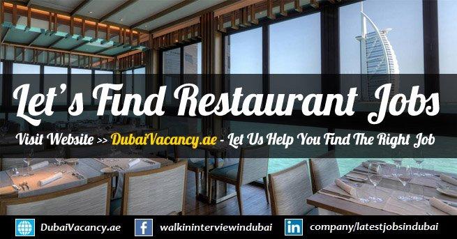 Restaurant Jobs In Dubai Latest Vacancies November 2019