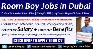 Room Attendant Jobs in Dubai