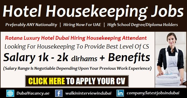 Rotana Hotel Dubai Housekeeping Jobs