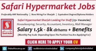 Safari Hypermarket Jobs