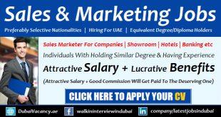 Sales & Marketing Jobs in Dubai