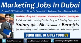 Marketing Jobs in Dubai