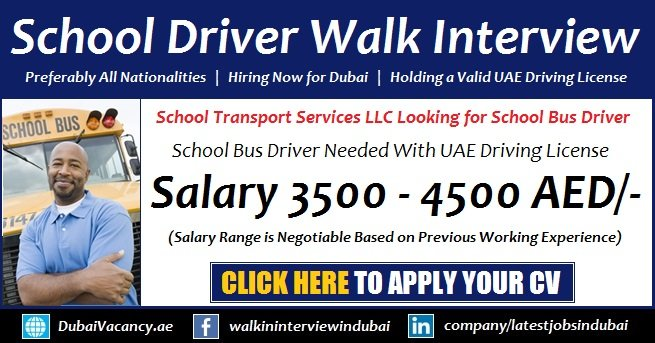Driver Vacancy in Dubai
