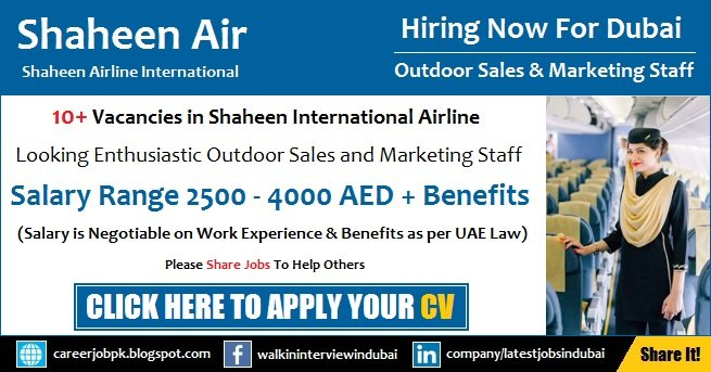 Shaheen Air Careers Jobs