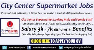 Sharjah City Center Job Vacancy