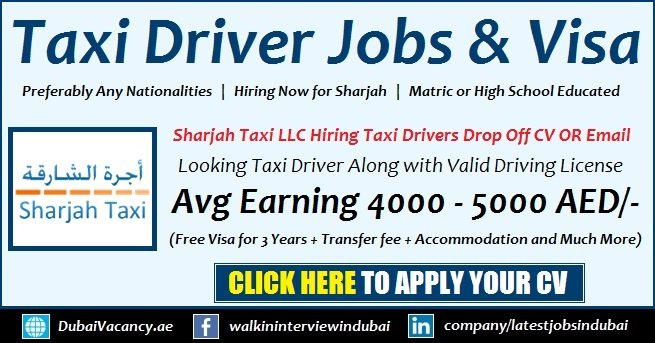 Sharjah Taxi Jobs