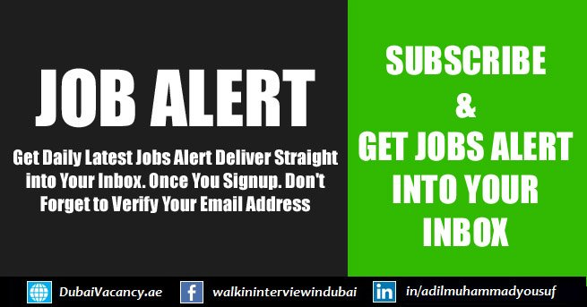 Subscribe For Job Alerts