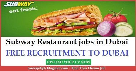 Subway Restaurant Jobs in Dubai & UAE Latest Career