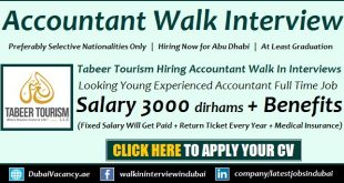 Tabeer Tourism Accountant Jobs