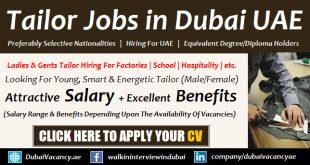 Tailor Jobs in Dubai