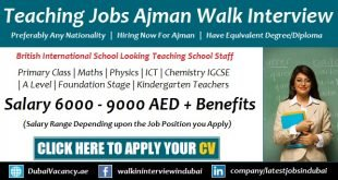 Teaching Jobs in Ajman