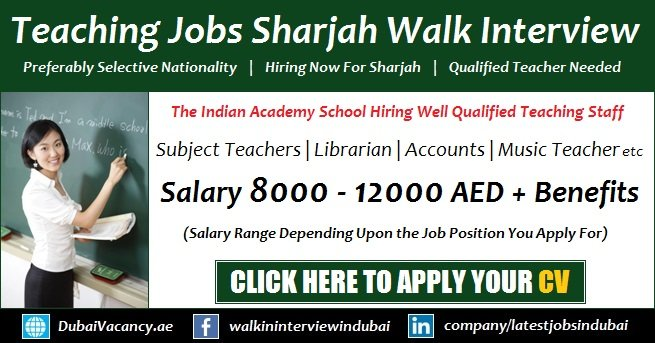 Teaching Jobs in Sharjah