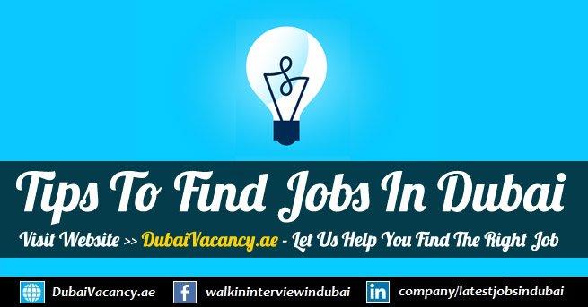 Tips To Get A Job in Dubai