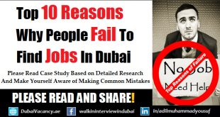 Why People Fail To Find Jobs in Dubai
