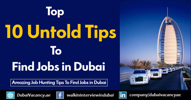 Tips To Find Jobs in Dubai