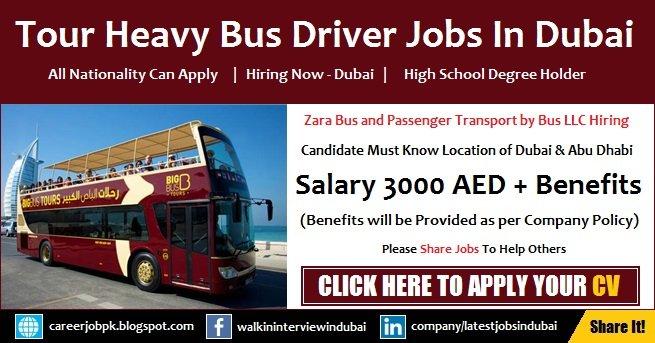 Tour Bus Driver Jobs