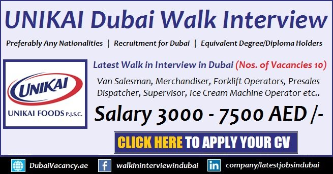 Unikai Foods Walk in Interview