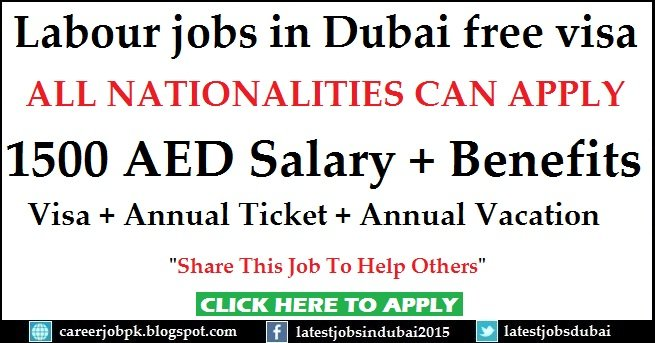 Labour jobs in Dubai free visa