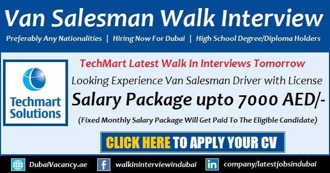 Driver Jobs in Dubai 2018