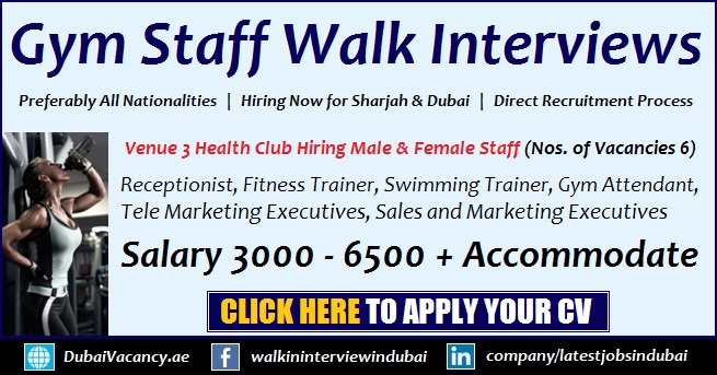 Venue 3 Health Club Jobs