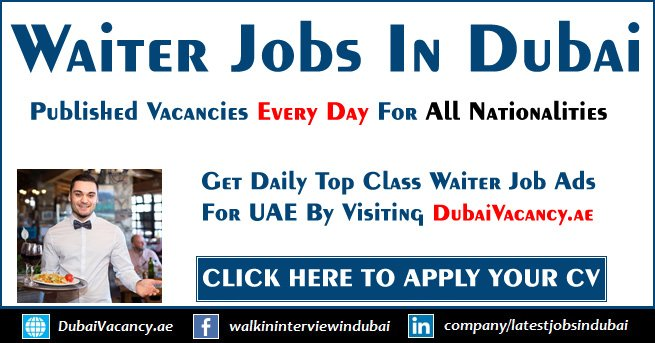 Waiter Jobs in Dubai