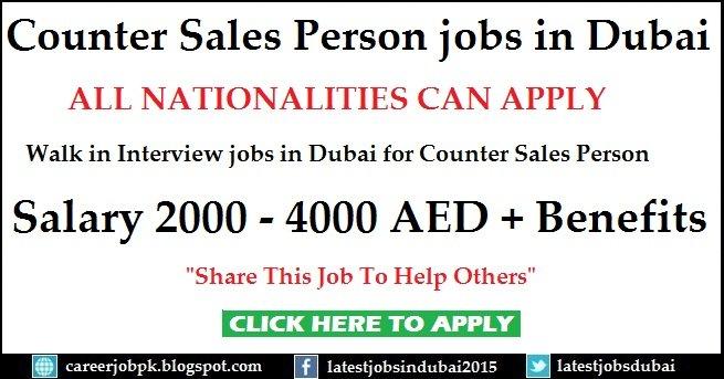 Counter Sales Jobs Dubai