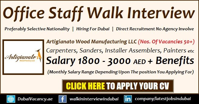 Walk in Interviews Dubai Today