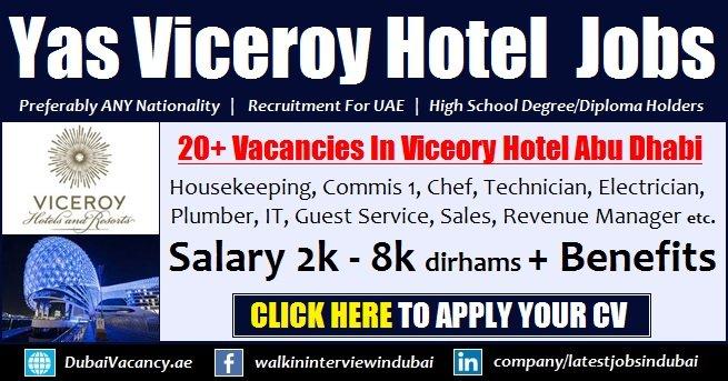 Yas Viceroy Hotel Abu Dhabi Careers